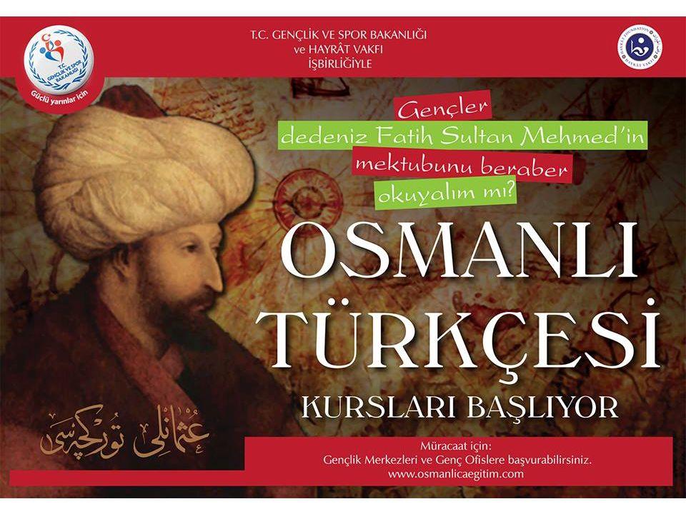 Bu kurslar, Osmanlı Türkçesini Okuma ve Yazma kursu adı altında iki yıldır düzenlenmekte olup, yukarıda bahsedilen Milli kültür hazinemizin kapısını az da olsa aralayarak yeni kuşaklara bu hazinenin kıymetini ve tadını ulaştırmayı hedeflemektedir