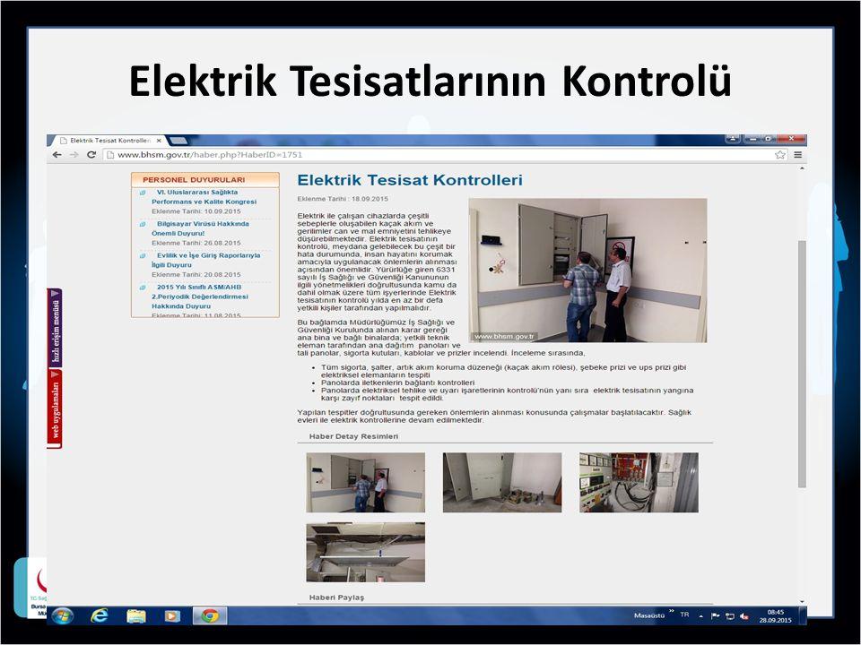 Elektrik Tesisatlarının Kontrolü