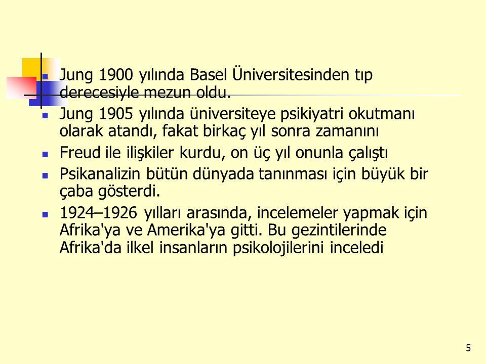 5 Jung 1900 yılında Basel Üniversitesinden tıp derecesiyle mezun oldu. Jung 1905 yılında üniversiteye psikiyatri okutmanı olarak atandı, fakat birkaç