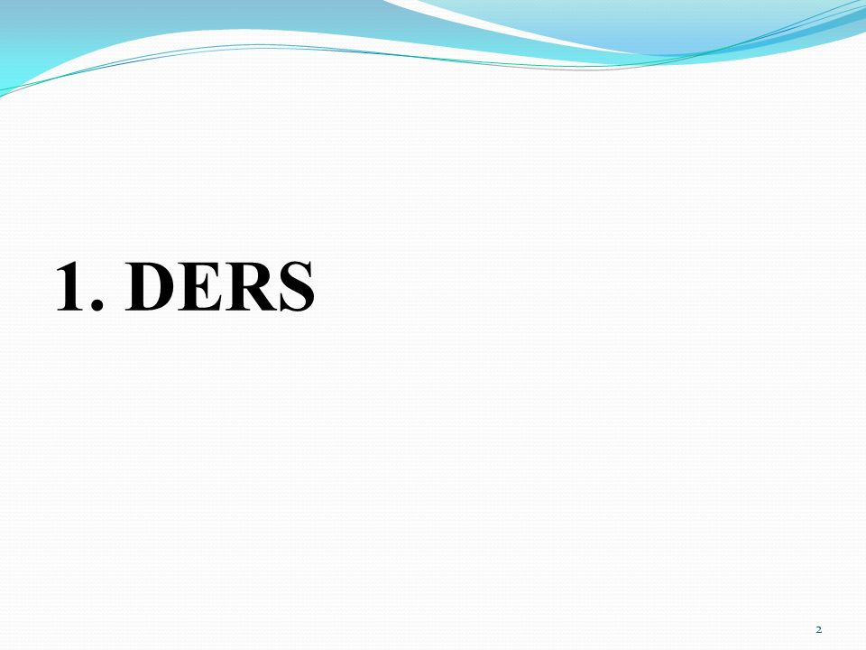 1. DERS 2