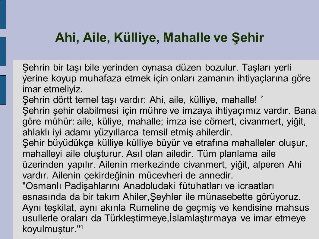 1205 de Anadolu ya gelen Ahi Evran, Anadolu Selçuklu başkenti Konya da bir süre bulundu.