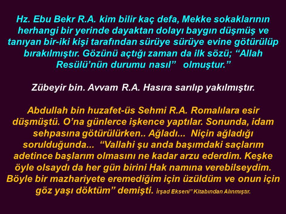 Hz. Ebu Bekr R.A.