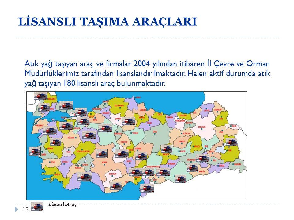 ATIK YAĞ GERİ KAZANIM TESİSLERİNİN LİSANSLANIDIRILMASI 18