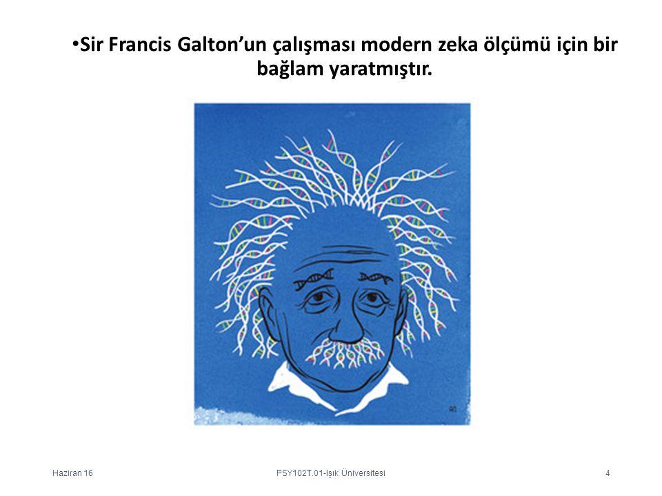 Sir Francis Galton'un çalışması modern zeka ölçümü için bir bağlam yaratmıştır. Haziran 16PSY102T.01-Işık Üniversitesi4