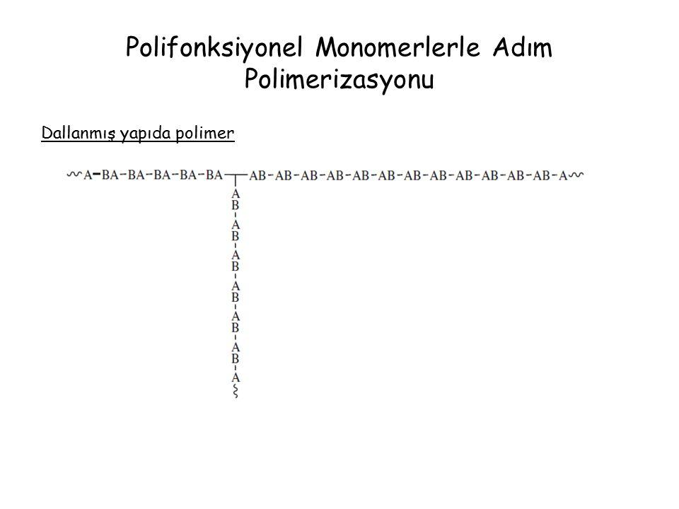 Polifonksiyonel Monomerlerle Adım Polimerizasyonu Dallanmış yapıda polimer