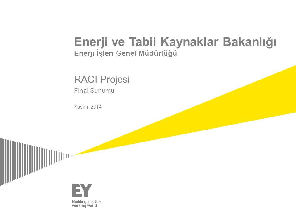 RACI Projesi Final Sunumu Kasım 2014 Enerji ve Tabii Kaynaklar Bakanlığı Enerji İşleri Genel Müdürlüğü