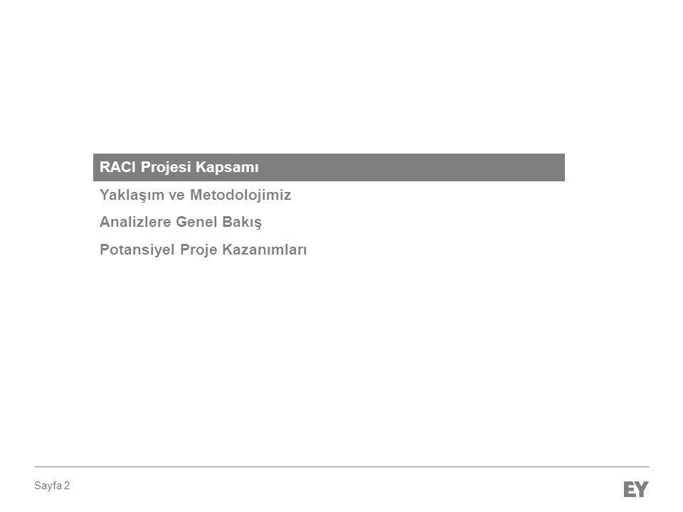 Sayfa 2 RACI Projesi Kapsamı Yaklaşım ve Metodolojimiz Analizlere Genel Bakış Potansiyel Proje Kazanımları