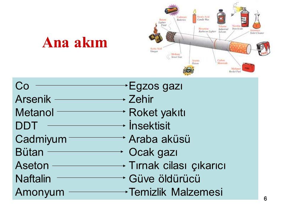 66 Ana akım CoEgzos gazı ArsenikZehir MetanolRoket yakıtı DDTİnsektisit CadmiyumAraba aküsü BütanOcak gazı AsetonTırnak cilası çıkarıcı NaftalinGüve öldürücü AmonyumTemizlik Malzemesi