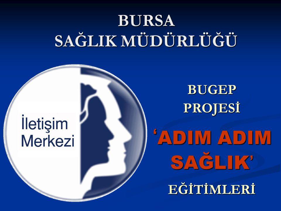 BURSA SAĞLIK MÜDÜRLÜĞÜ BUGEP PROJESİ ' ADIM ADIM SAĞLIK ' EĞİTİMLERİ