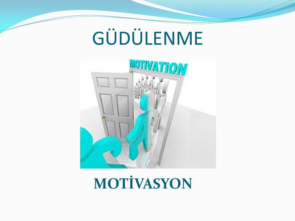 İçsel etkenler olmadan dışsal etkenler çoğu zaman gerekli motivasyonu sağlamaz.