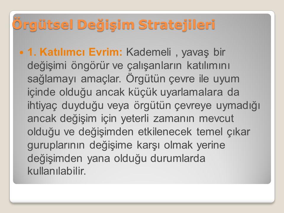 Örgütsel Değişim Stratejileri 1.