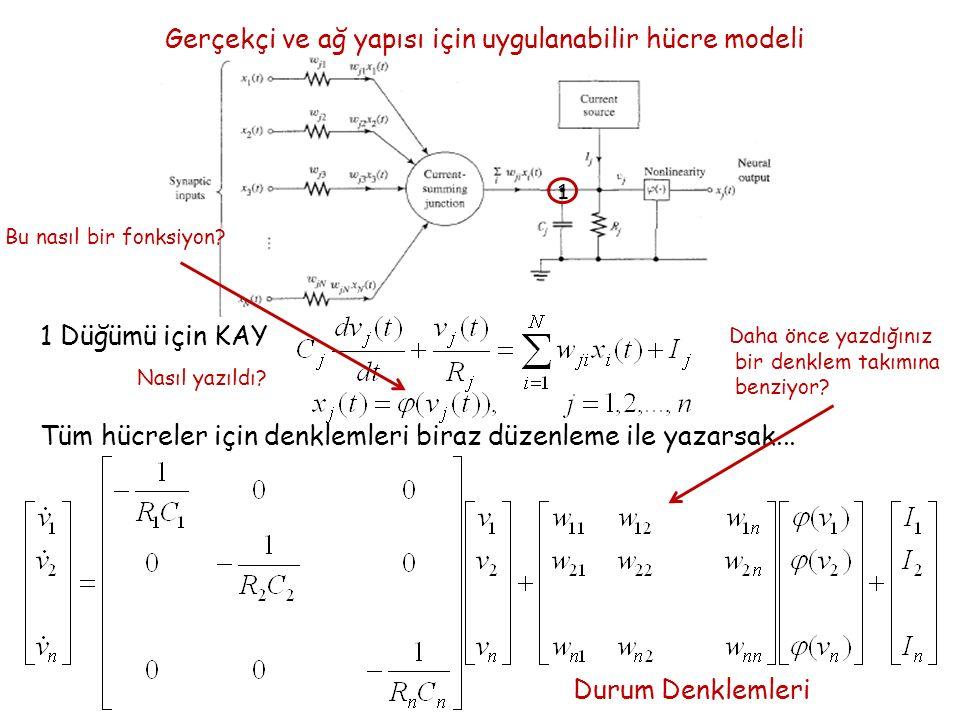 Gerçekçi ve ağ yapısı için uygulanabilir hücre modeli 1 1 Düğümü için KAY Nasıl yazıldı.