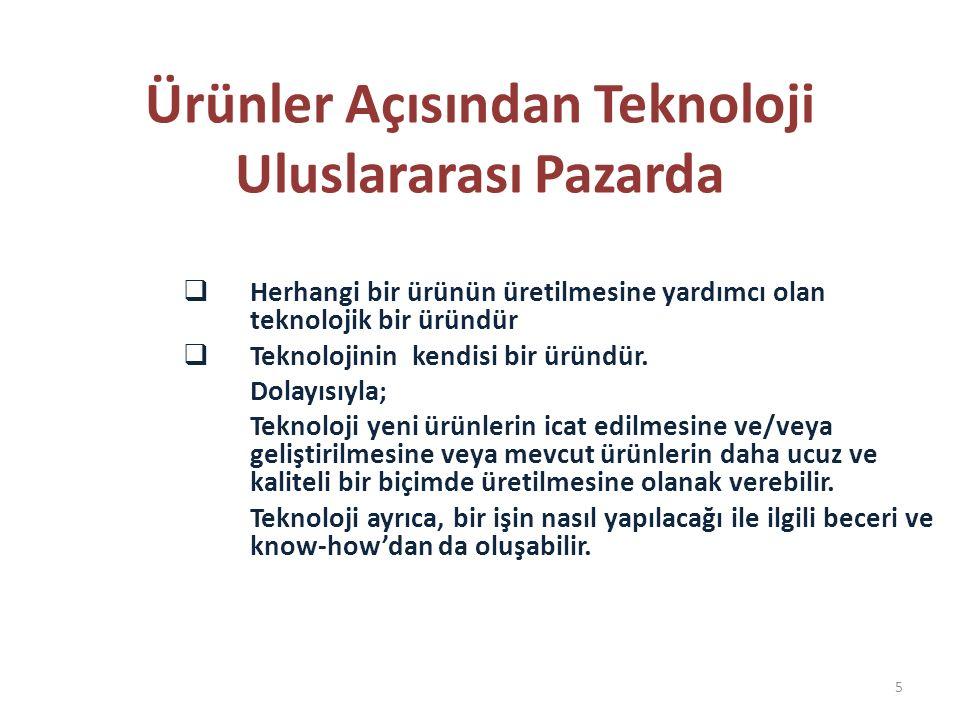 TEKNOLOJİ TRANSFERİ Teknoloji Transferinde Kullanılan Yöntemler Sermaye Malları İthaliyle Sağlanan Teknoloji Dolaysız Yabancı Sermaye Yatırımları Yalın Biçimde Teknoloji İthali (Teknolojinin patentinin satın alınması, lisans anlaşmaları ile teknoloji kiralanması, ücretli danışmanlık hizmetlerinden yararlanılması Yabancı Konferanslar, Teknik Bültenler ve Yabancı Bilim Adamı Değişim Programları Teknik Yardım Programları (hibe şeklinde ya da düşük ücretli, yerel teknik personelin eğitimi, danışmanlık hizmetleri vb.) 16
