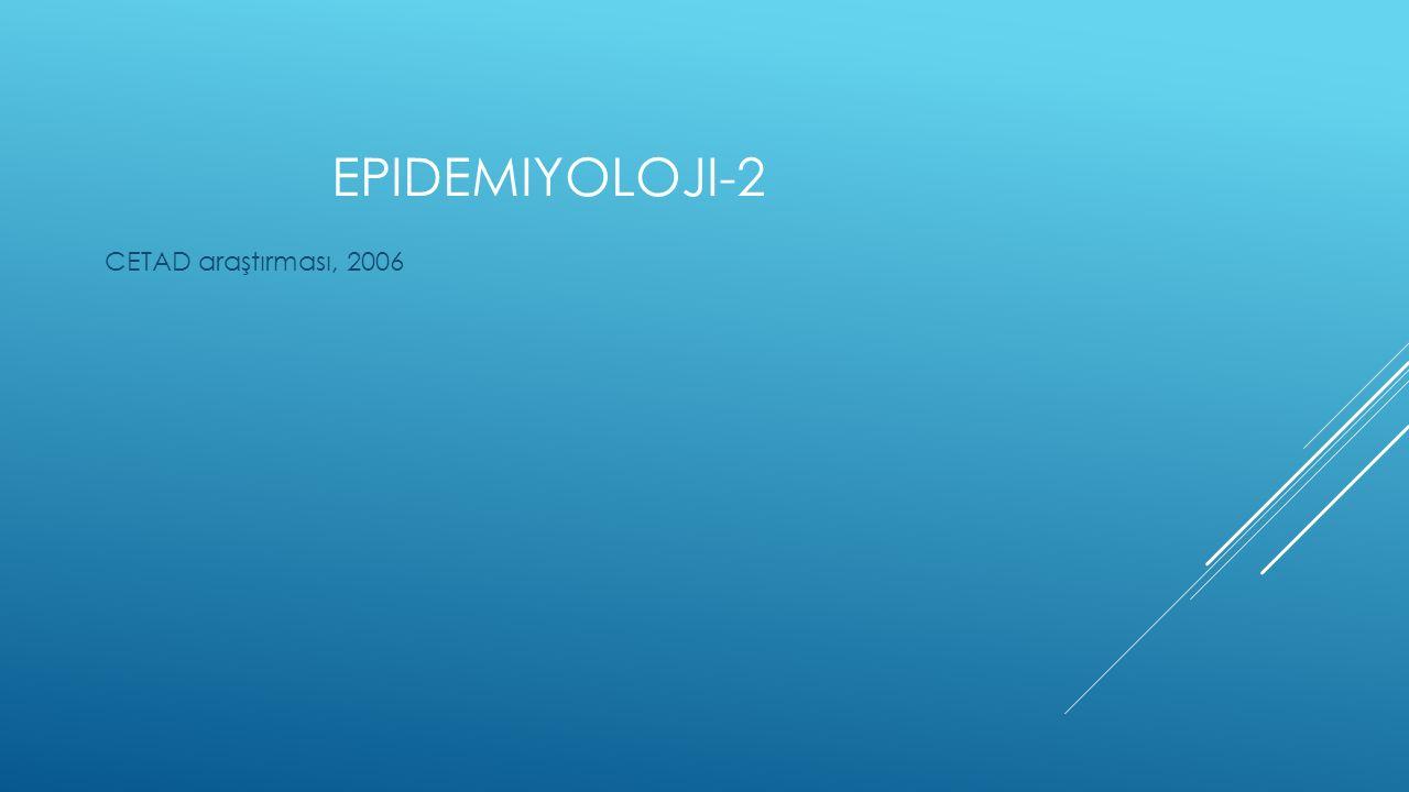 EPIDEMIYOLOJI-2 CETAD araştırması, 2006