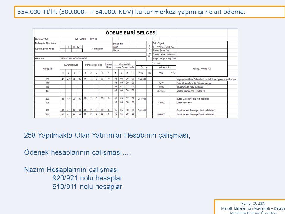 www.erkankaraarslan.org 354.000-TL'lik (300.000.- + 54.000.-KDV) kültür merkezi yapım işi ne ait ödeme.