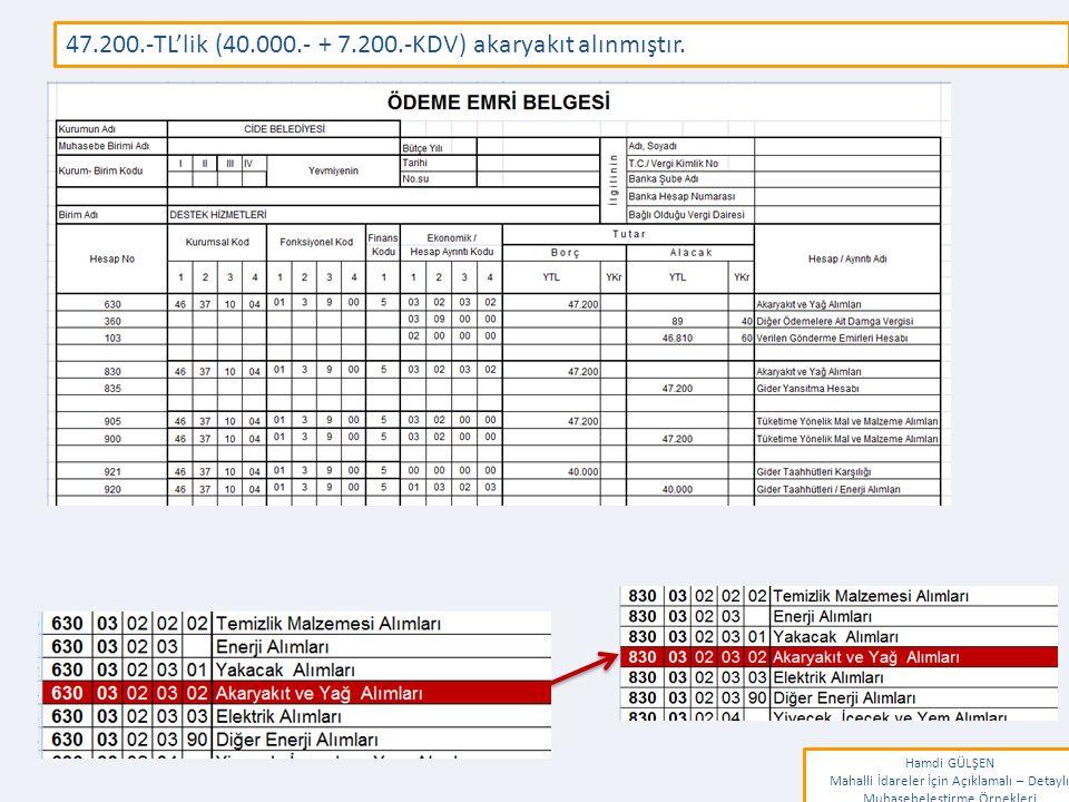 www.erkankaraarslan.org 47.200.-TL'lik (40.000.- + 7.200.-KDV) akaryakıt alınmıştır.