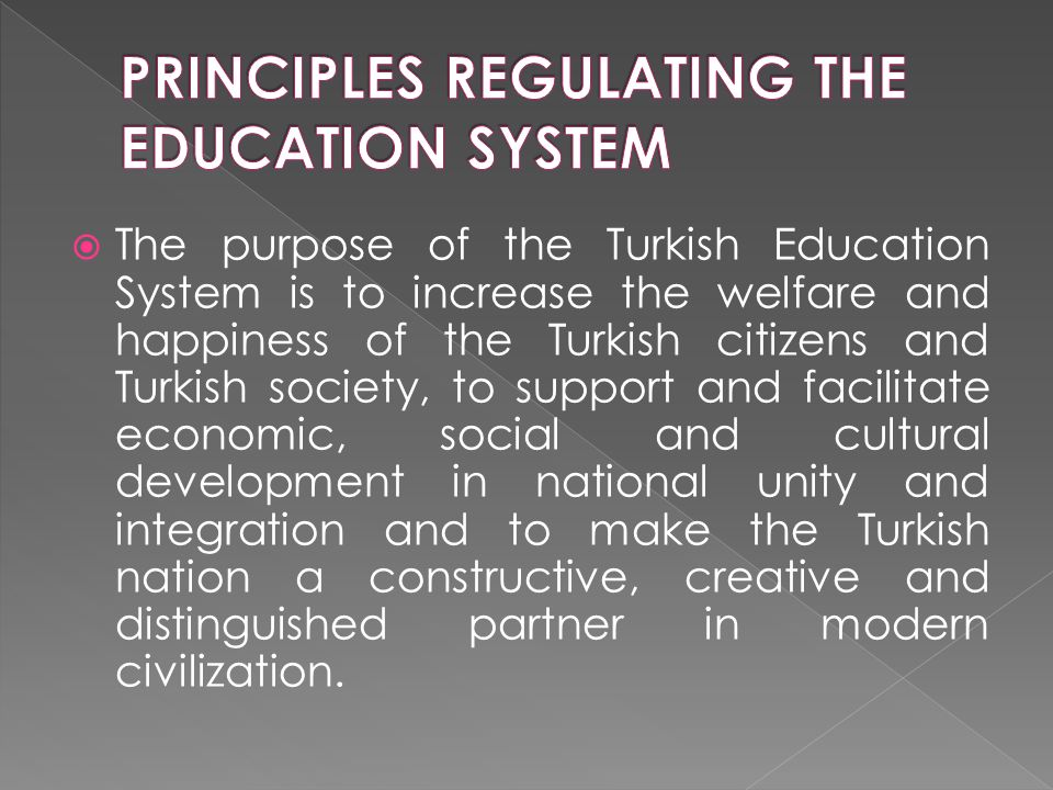  As per Law no. 3797 on the organization and duties of the Ministry of National Education,