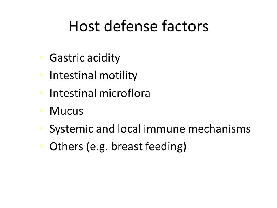 Defense Barriers of the Enterocytes 1.Physical barrier: mucus 2.