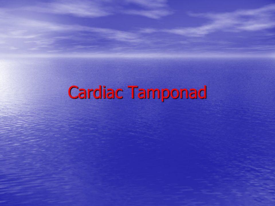 Cardiac Tamponad