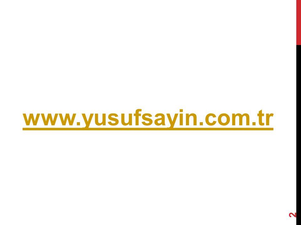 www.yusufsayin.com.tr 2