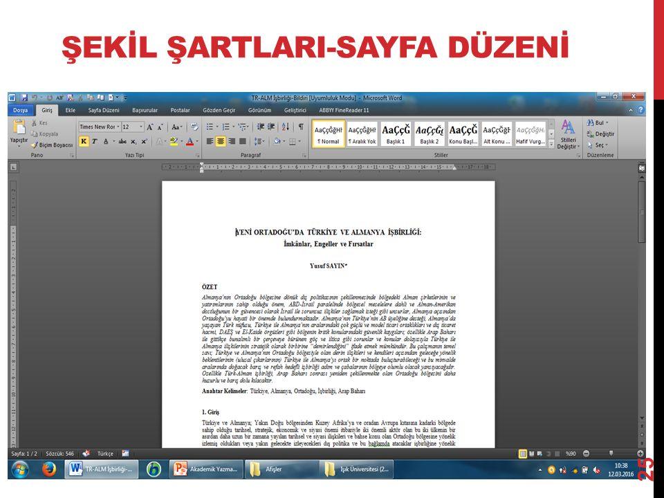 ŞEKİL ŞARTLARI-SAYFA DÜZENİ 25