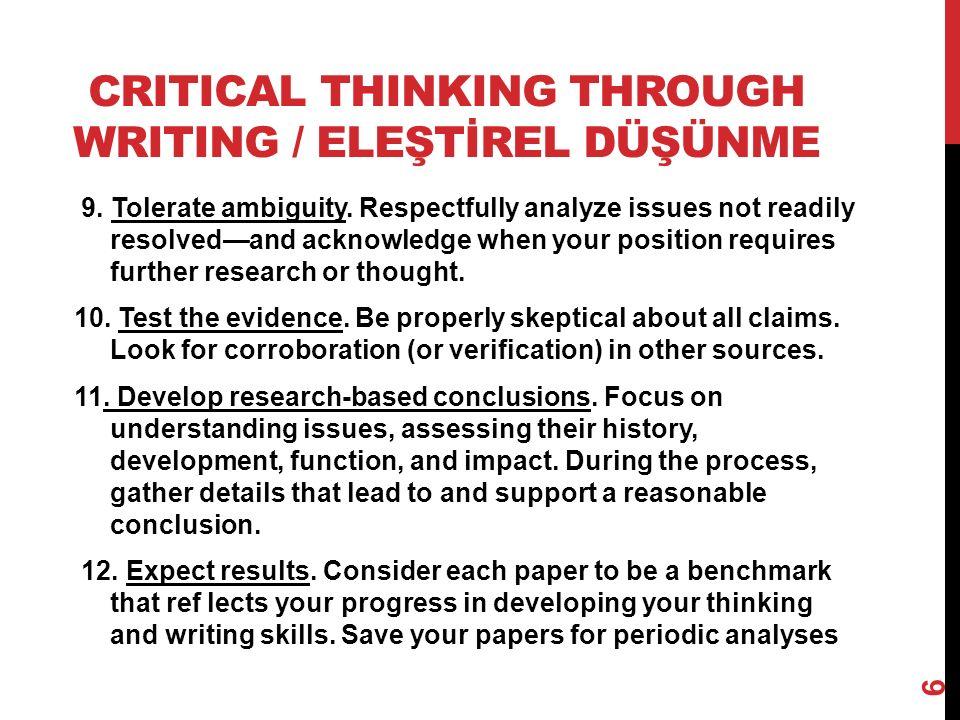 TEŞEKKÜRLER… Tavsiye Edilen Kaynaklar 1.«The Colloge Writer: A Guide to Thinking, Writing, and Researching», VanderMey, Meyer, Van Rys, Sebranek, Houghton Mifflin Harcourt Publishing Company, 2009.