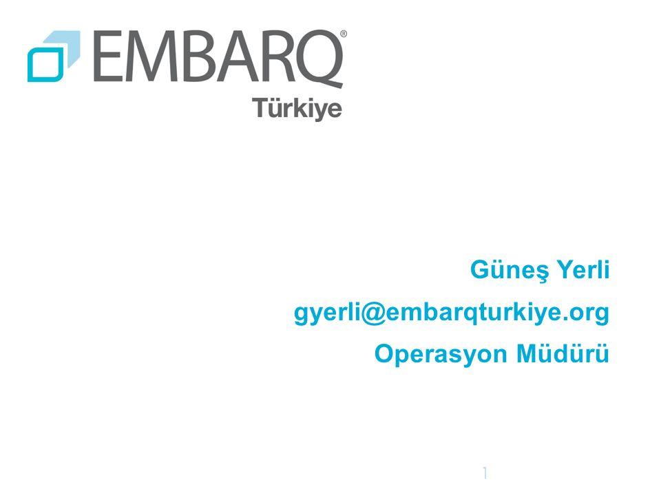 Güneş Yerli gyerli@embarqturkiye.org Operasyon Müdürü 1