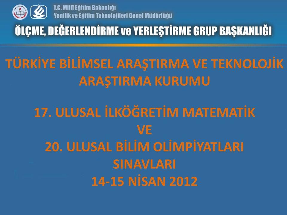 SINAV OTURUMLARI Sınavlar 6 oturum halinde 14-15 Nisan 2012 tarihlerinde 28 il merkezi ve K.K.T.C.