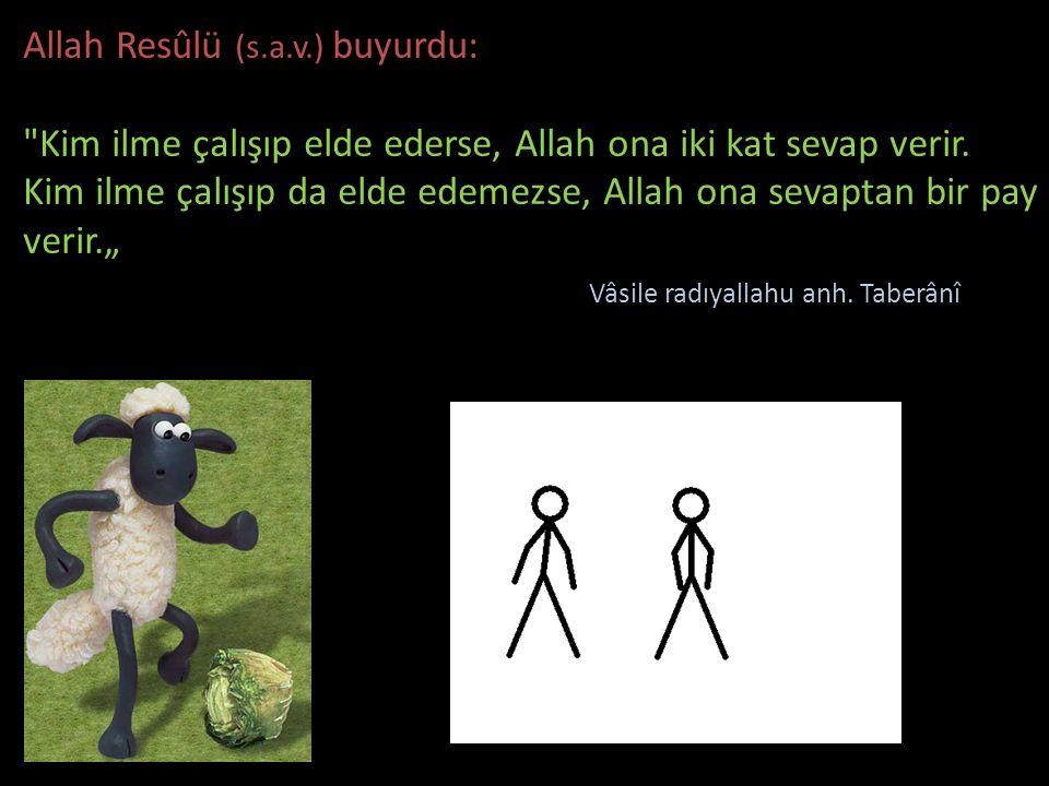 Allah Resûlü (s.a.v.) buyurdu: Kim ilme çalışıp elde ederse, Allah ona iki kat sevap verir.