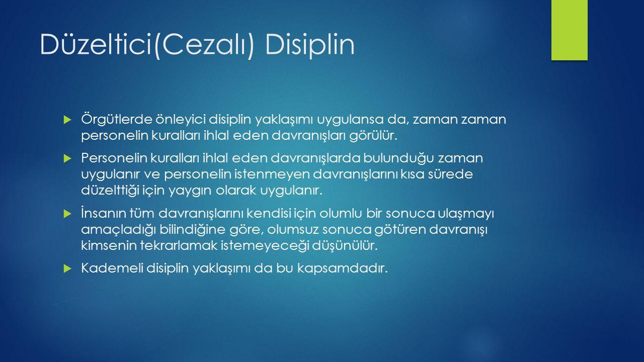Yapıcı(Cezasız) Disiplin  Klasik dipline alternatif olarak gösterilen bir yöntemdir.