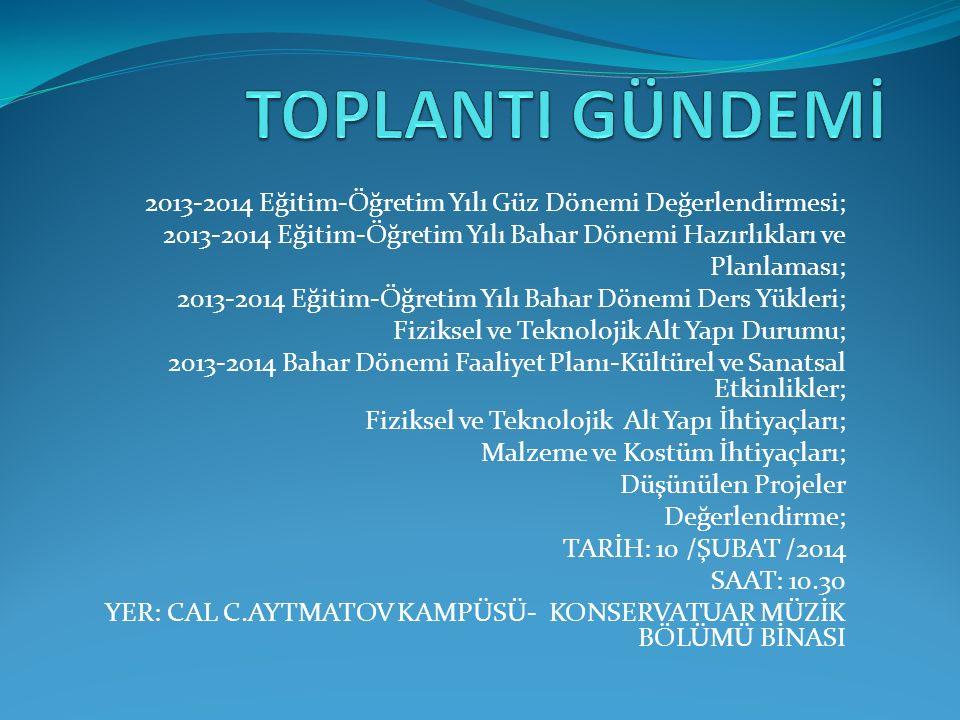10-11 Kasım 2012 – KTMÜ Mütevelli Heyeti Yemek Konserleri.