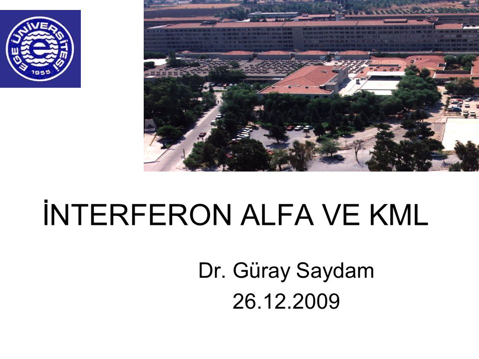 İNTERFERON ALFA VE KML Dr. Güray Saydam 26.12.2009