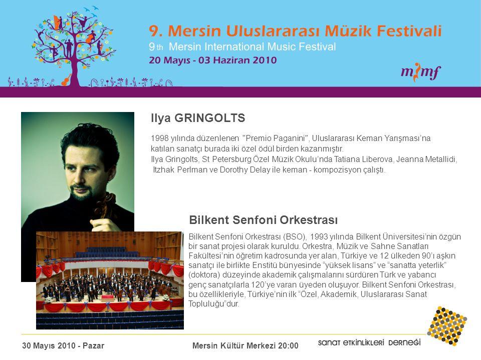 Ilya GRINGOLTS 1998 yılında düzenlenen Premio Paganini , Uluslararası Keman Yarışması'na katılan sanatçı burada iki özel ödül birden kazanmıştır.
