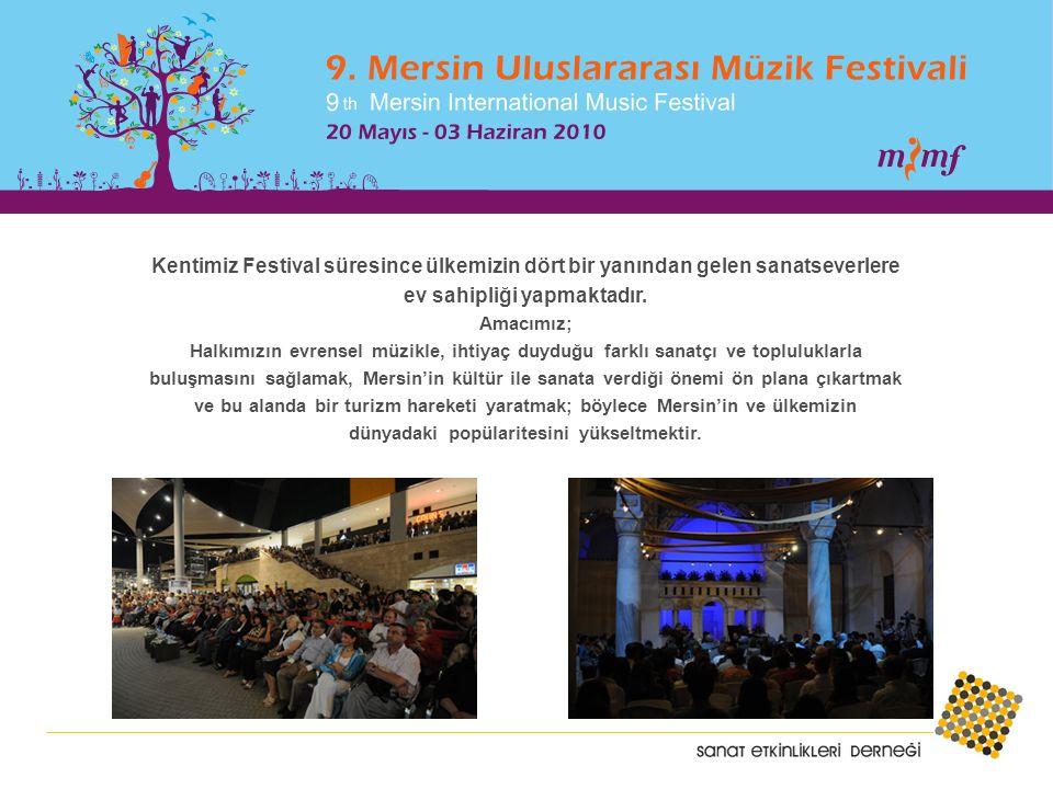 Kentimiz Festival süresince ülkemizin dört bir yanından gelen sanatseverlere ev sahipliği yapmaktadır.