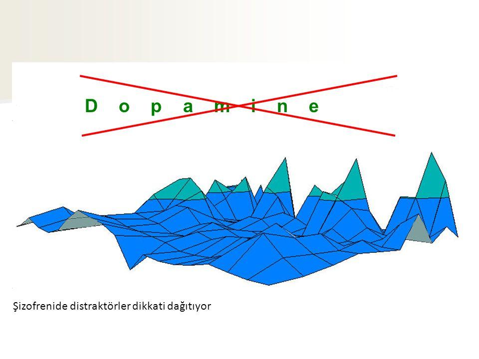 D o p a m i n e Şizofrenide distraktörler dikkati dağıtıyor