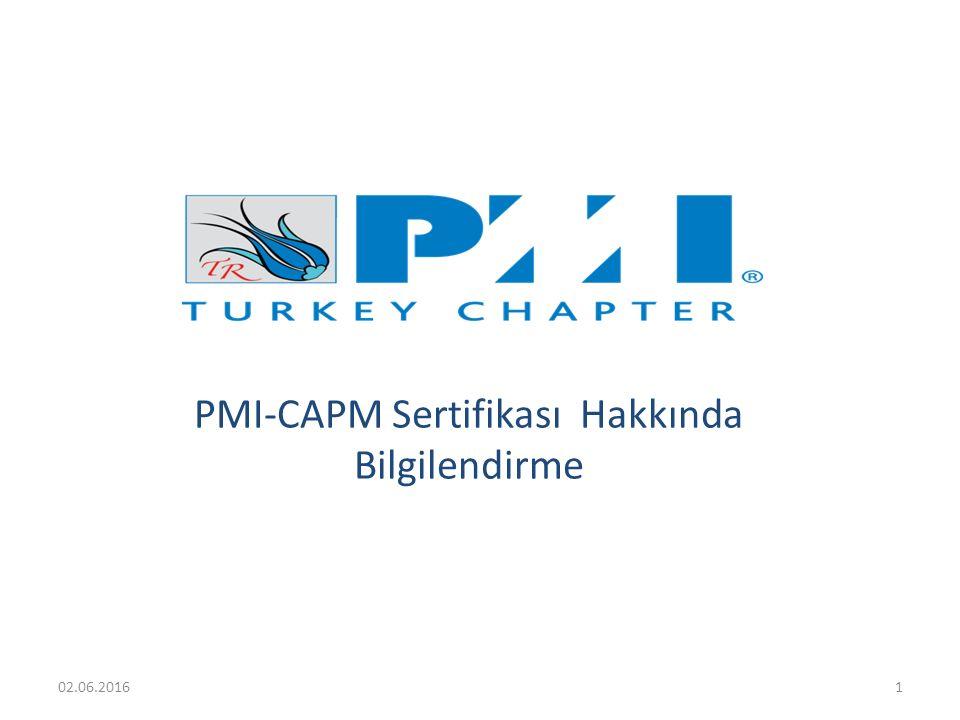 PMI-CAPM Sertifikası Hakkında Bilgilendirme 02.06.20161
