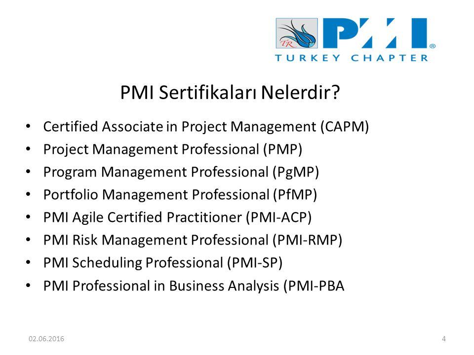 PMI Sertifikaları Nelerdir.