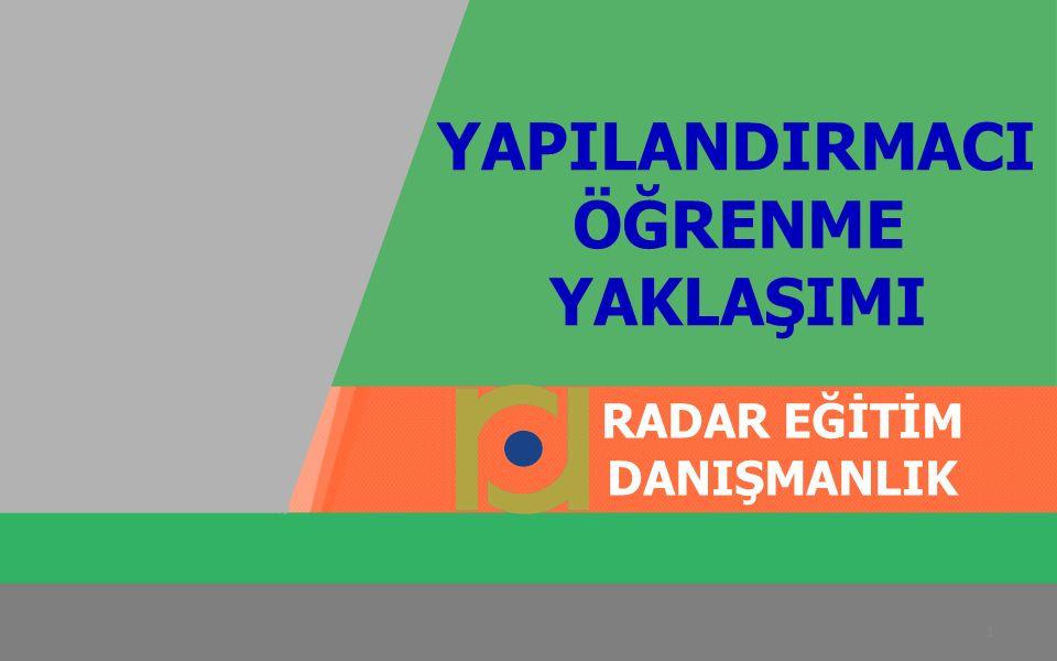 İbrahim GÜMÜŞ radardanismanlik.com.tr EĞİTİM PROGRAMI YAPILANDIRMACI ÖĞRENME YAKLAŞIMI