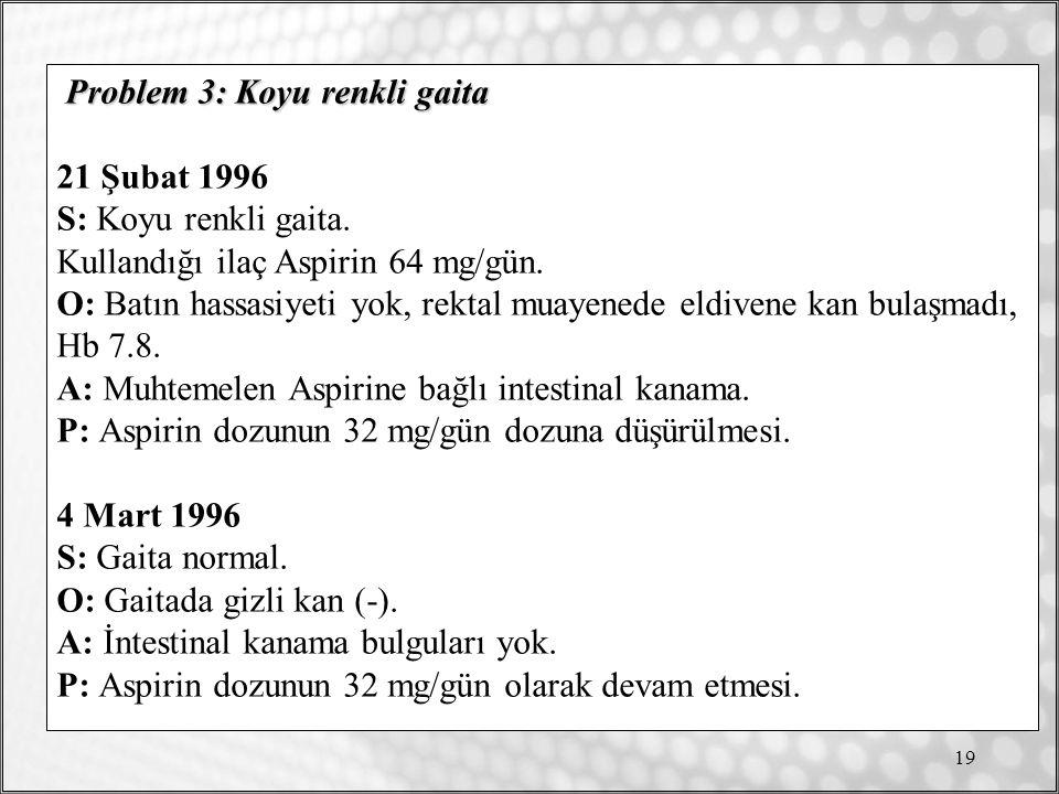 19 Problem 3: Koyu renkli gaita 21 Şubat 1996 S: Koyu renkli gaita.