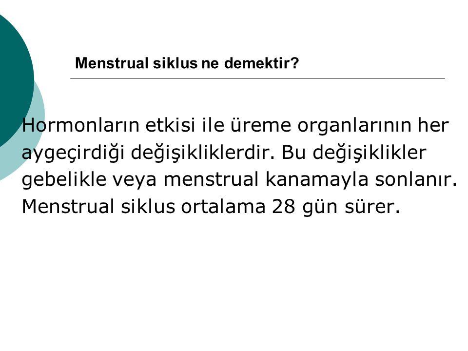 Menstrual siklus ne demektir.