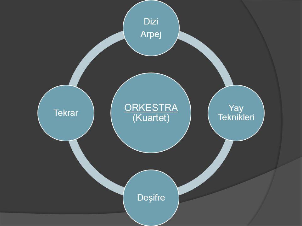 ORKESTRA (Kuartet) Dizi Arpej Yay Teknikleri Deşifre Tekrar