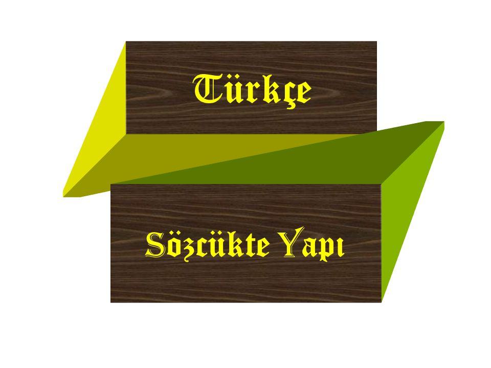 Y apısal Y önden S özcük T ürleri  Yapısal yönden bütün sözcükler üçe ayrılır : Basit Sözcükler Türemi ş Sözcükler Birle ş ik Sözcükler