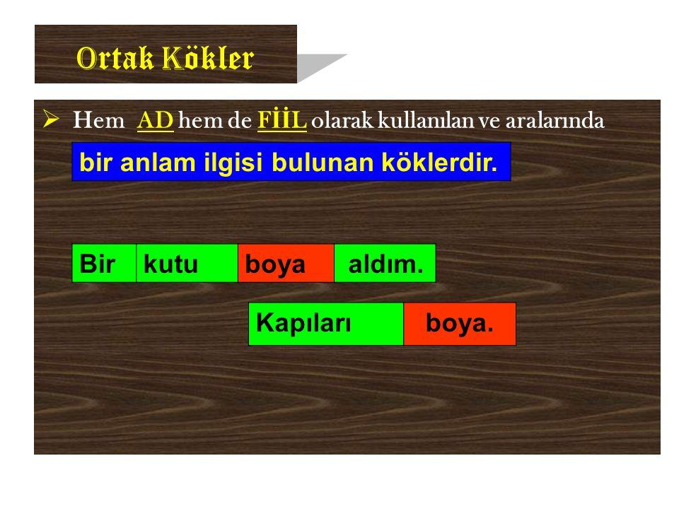 D ikkat!..  Türkçede YAPIM ekleri ÇEKİM eklerinden önce gelir. KÖK+ YAPIM EKİ + ÇEKİM EKİ