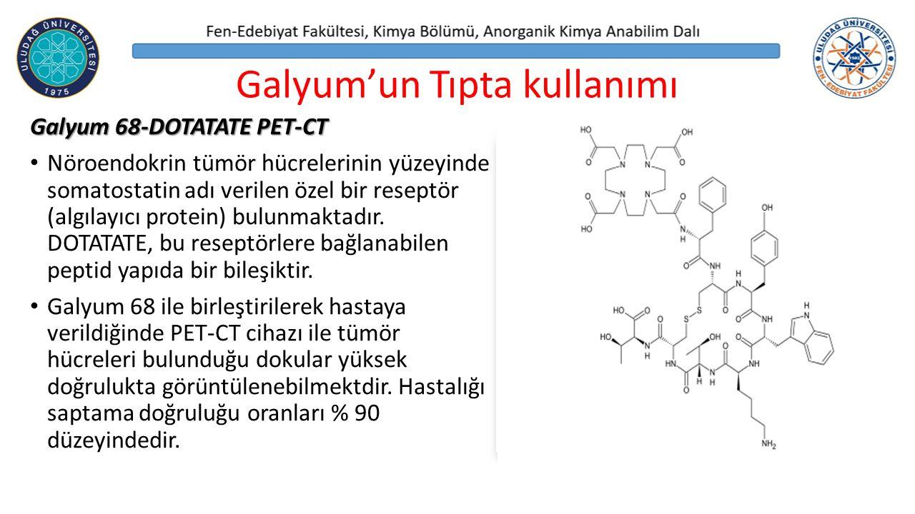 Galyum 68-DOTATATE PET-CT Nöroendokrin tümör hücrelerinin yüzeyinde somatostatin adı verilen özel bir reseptör (algılayıcı protein) bulunmaktadır.
