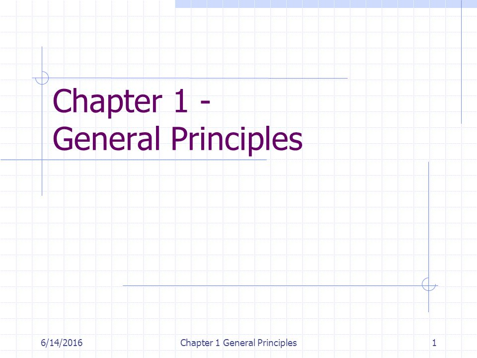6/14/2016Chapter 1 General Principles2