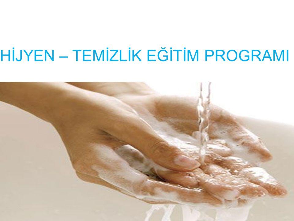32 Eller yıkanırken ; Yeterli su ve sabun kullanılmalı, eller en az on saniye iyice ovuşturulmalı, parmak araları ovulmalı, tırnak altları iyice temizlenmelidir.