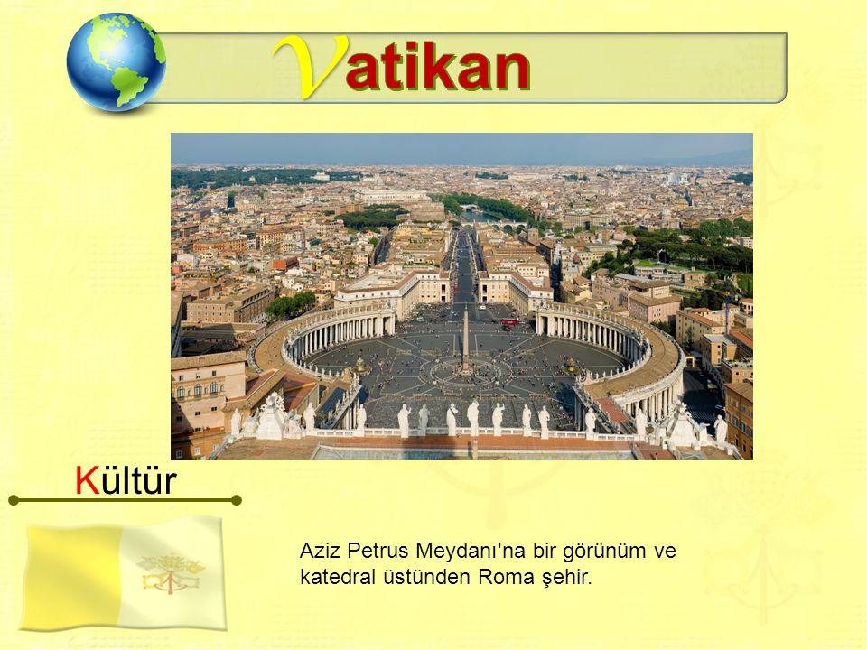 v Aziz Petrus Meydanı na bir görünüm ve katedral üstünden Roma şehir. Kültür
