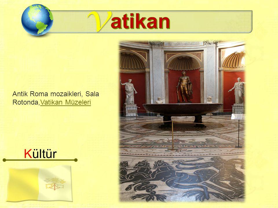 v Kültür Antik Roma mozaikleri, Sala Rotonda,Vatikan MüzeleriVatikan Müzeleri