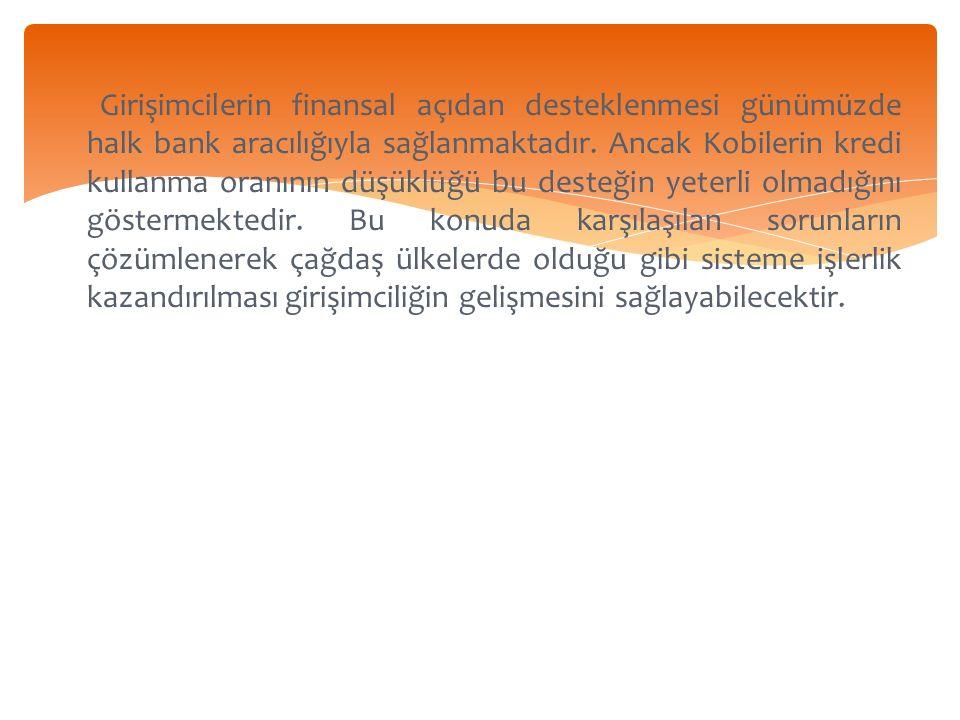Girişimcilerin finansal açıdan desteklenmesi günümüzde halk bank aracılığıyla sağlanmaktadır.