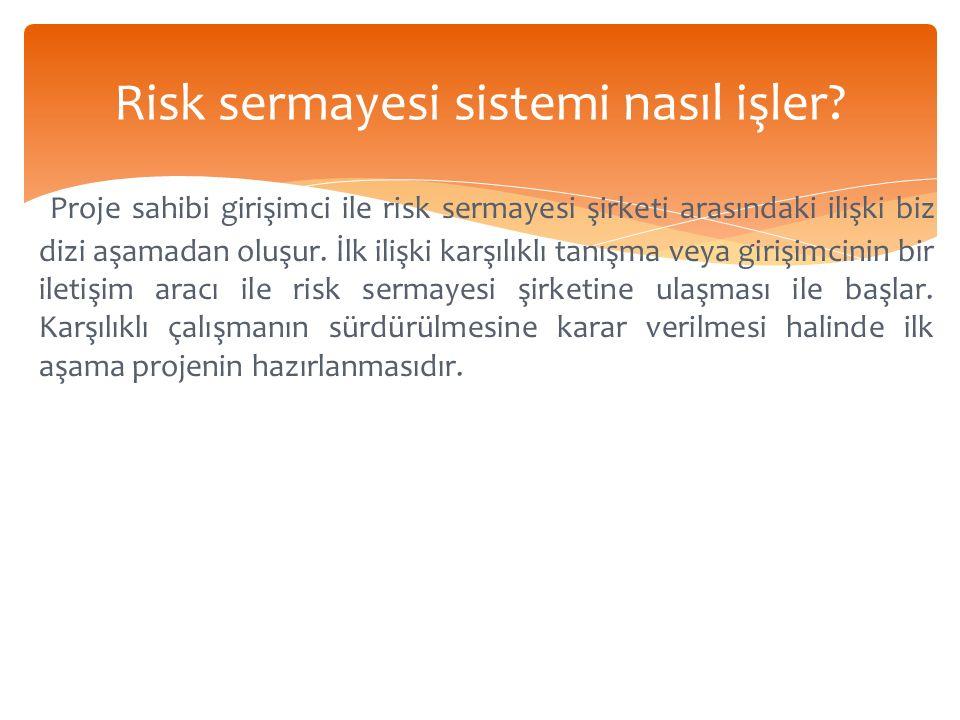 Risk sermayesi sistemi nasıl işler.